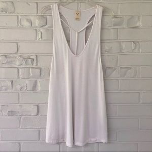 Free People White Caged Tank Top Size S NWOT